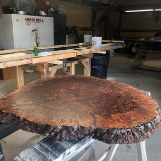 CLARO WALNUT BURL TABLE
