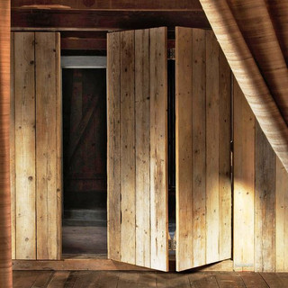 15- Sliding Barnboard Closet Doors
