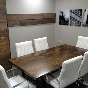 30 -Maple stained Walnut Boardroom Table