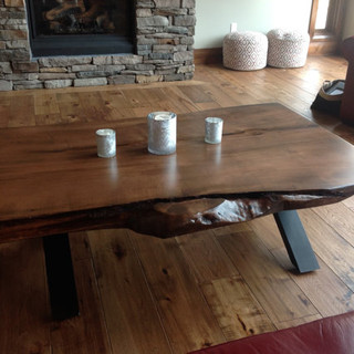 21- Stained Maple Live Edge Coffee Table