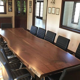 25- Black Walnut Boardroom Table