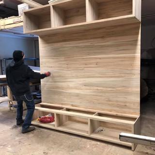 Salvaged Maple Shelving Unit