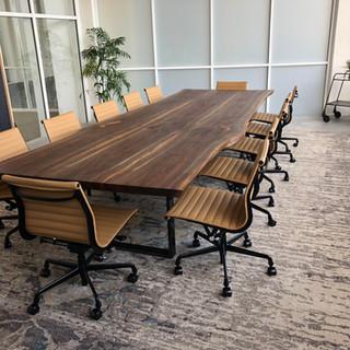 27- Black Walnut Boardroom Table