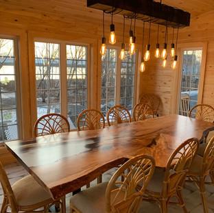 34 - Single Slab Maple Table