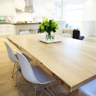 009AA -  Maple Bookmatched Live Edge Dining Table