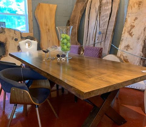 TABLE 22' Bookmatched Maple Live Edge Table