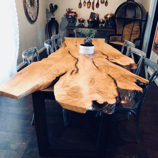 001b - Single Slab Maple Live Edge Table