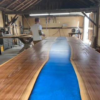 42 - Blue River Black Walnut Live Edge Table