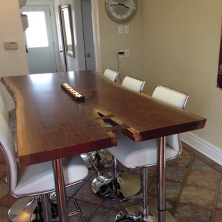006A - Live Edge Black Walnut Bar Height Table