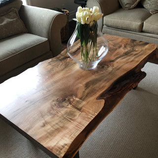 31 - Curly Maple Live Edge Coffee Table