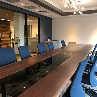 40 - Black Walnut Live Edge Conference Table Boardroom Table