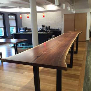 29- Single Slab Balck Walnut Harvard Table