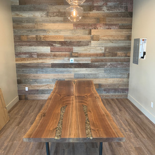 32 - Bookmatched Black Walnut Live Edge Table