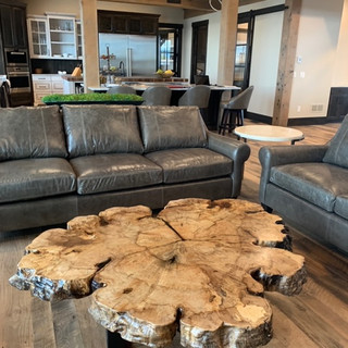 004 - 5' LARGE BURL COFFEE TABLE