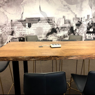 49 - Maple Live Edge Conference Table - Clear Coat FInish