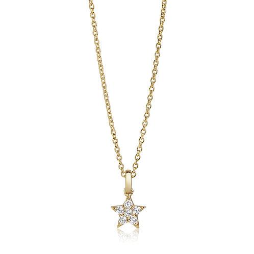 Sif Jakobs Halskette Mira - 18K vergoldet mit weißen Zirkonia