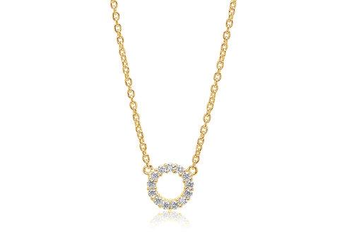 Sif Jakobs Halskette Biella - 18K vergoldet mit weißen Zirkonia