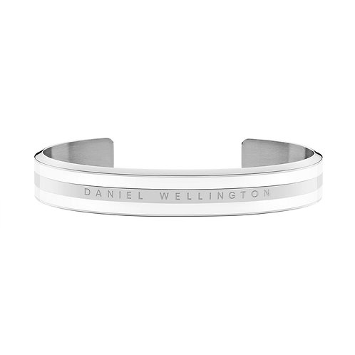 Daniel Wellington Armreif - Classic Bracelet Satin White Silber