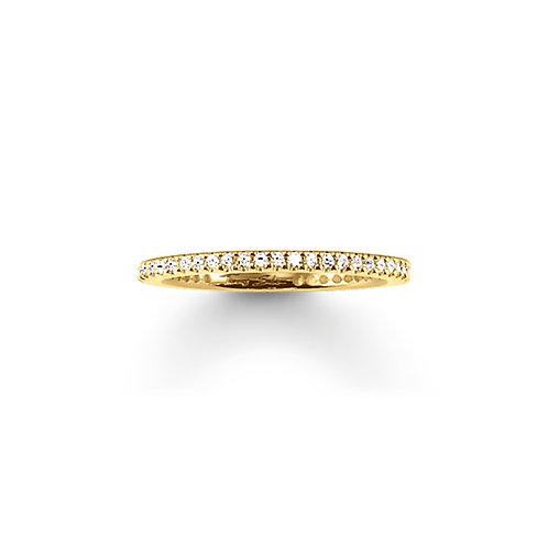 Thomas Sabo Ring -Eternity Pavé 750 Gelbgold mit weißen Zirkonia