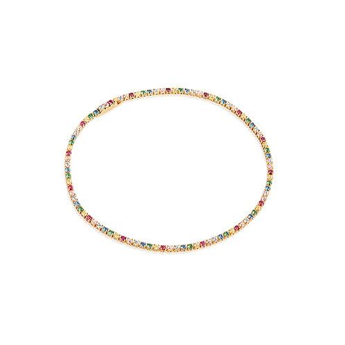 Sif Jakobs Armband 18K vergoldet mit bunten ZIrkonia