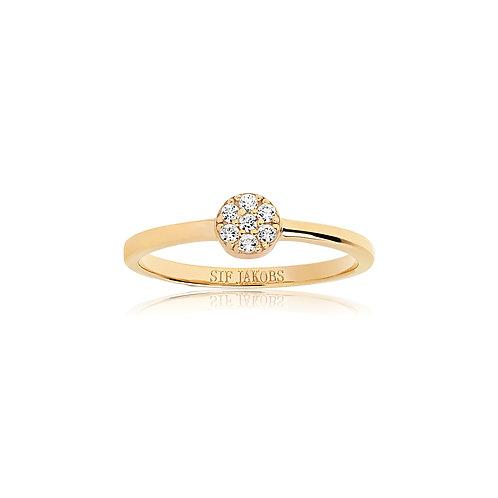 Sif Jakobs Ring 18K vergoldet mit weißen Zirkonia