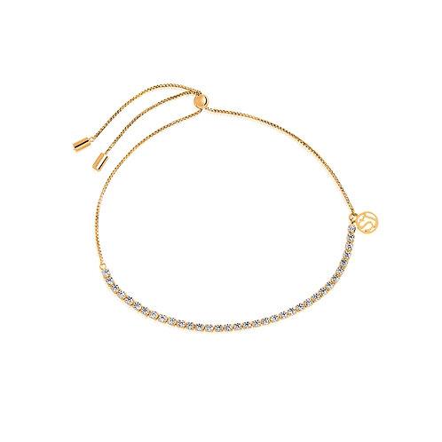 Sif Jakobs Armband Ellera - 18K vergoldet mit weißen Zirkonia