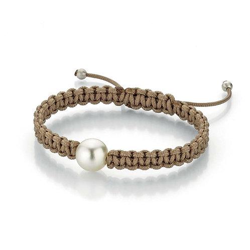Gellner Pearlmates - 925 Silber weiß und Nylon mit Südsee-Perle