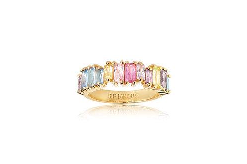 Sif Jakobs Ring ANTELLA PICCOLO - 18K vergoldet mit bunten Zirkonia