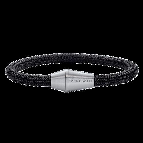 Paul Hewitt Armband - Conic Silber Nylon Schwarz