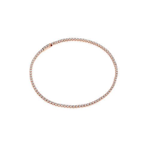 Sif Jakobs Armband 18K rosevergoldet mit weißen Zirkonia