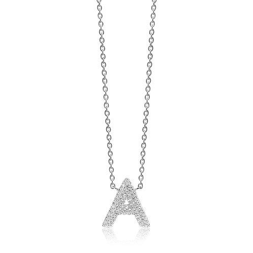 Sif Jakobs Collier mit weißen Zirkonia verschieden Buchstaben
