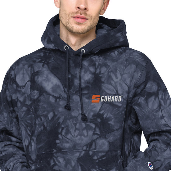 GoHard x Champion tie-dye hoodie