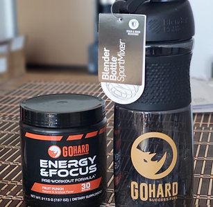 Bundle: GoHard Preworkout x Blender Bottle SportMixer