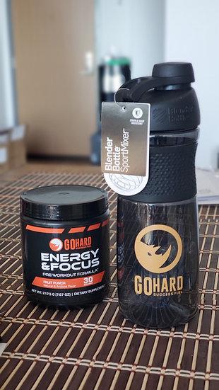 Bundle: GoHard Preworkout x Blender Bottle SportMixer