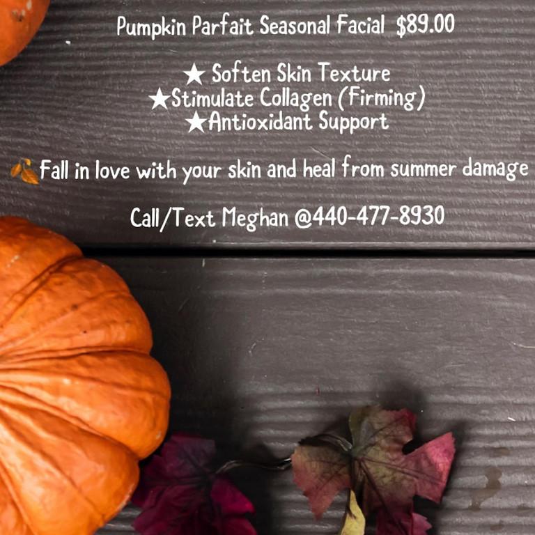 Pumpkin Parfait Facial w/ Meghan $89