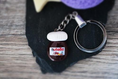 Porte clés Nutella pate à tartiner fimo artisanal