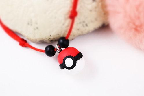 Collier enfant Pokeball pokemon fimo artisanal geek