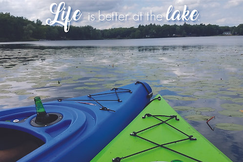 Lake Life Postcard