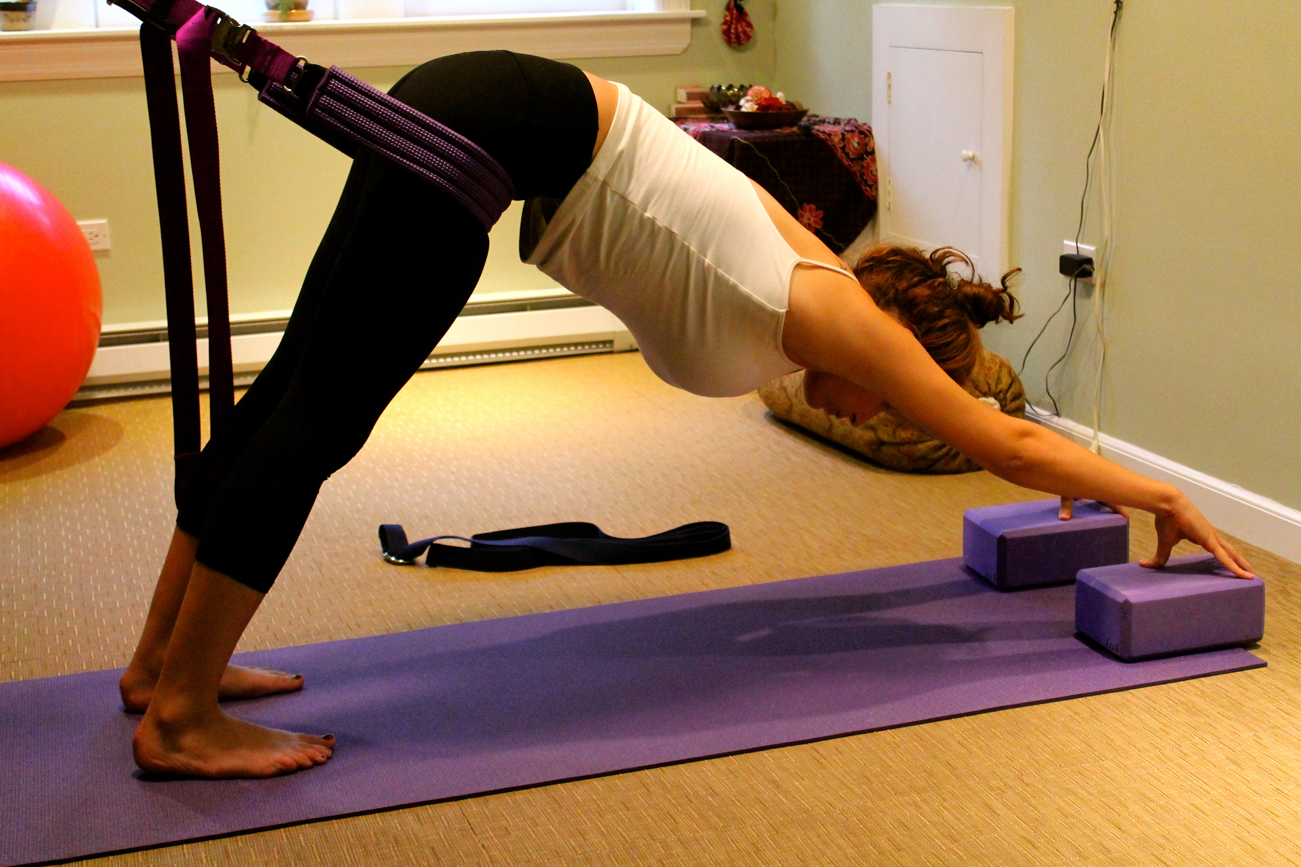 Downward facing Dog with MBB Support