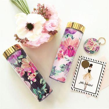 Floral Drink Tumbler