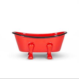 Farmhouse Red Metal Soap Dish