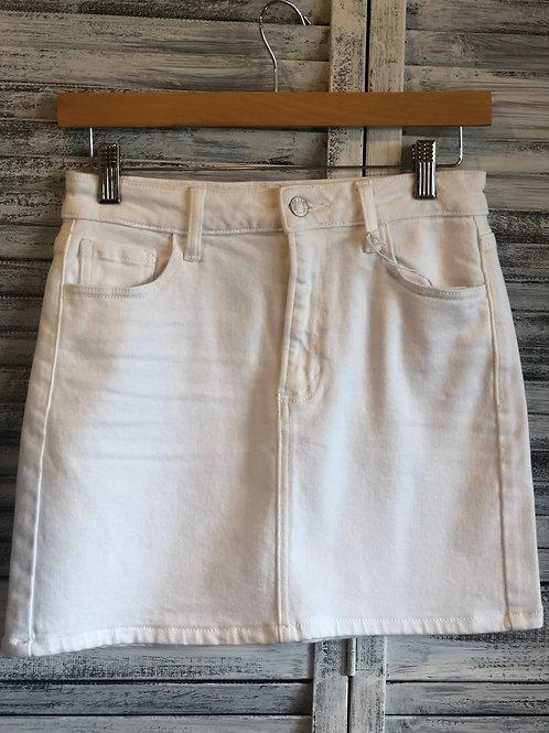 White CELLO Jean Skirt
