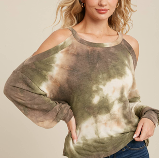 Bluivy Open Shoulder Top