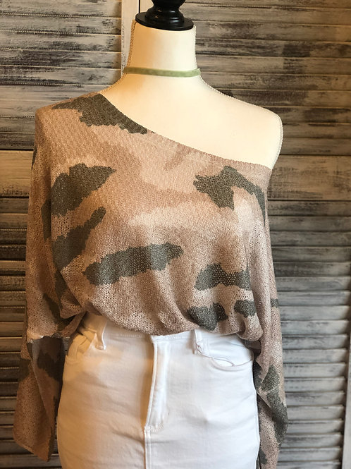 POL Camo Summer Sweater