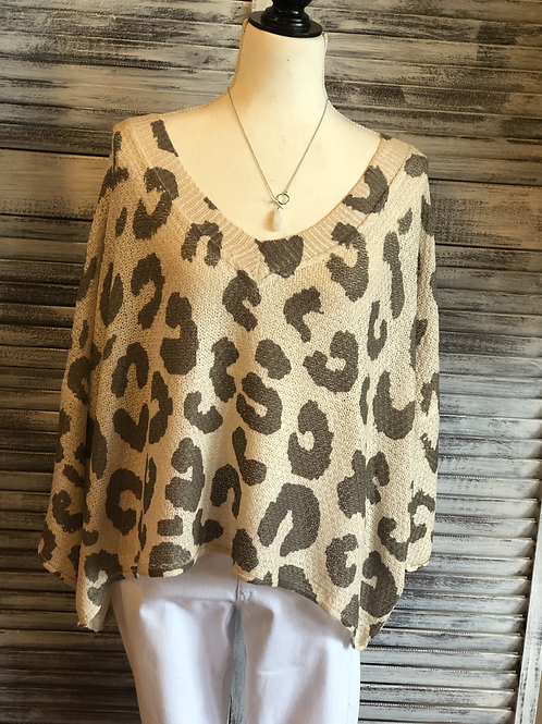POL Leopard Summer Sweater