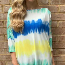 CC Yellow and Blue Poncho Top