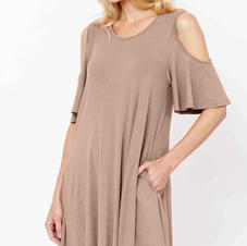 Studio K Bamboo Cold should Dress Taupe