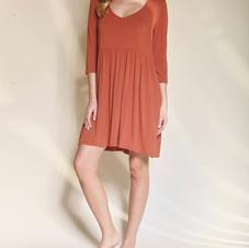 Studio K Bamboo Babydoll Dress Rust