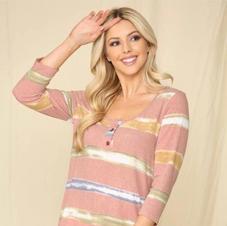 Celeste Stripe Pink Top