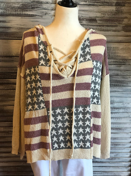 POL American Flag Sweater